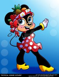 Tropical Minnie Mouse by MaryBellamy