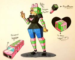 Polly the polygon popstar by TechtonicPressure