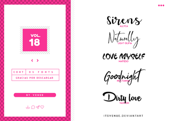 fonts pack [vol. 18] by itsvenue