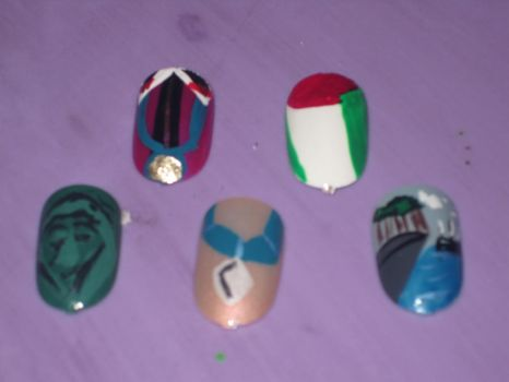 Pocahontas Nails by hatterlet