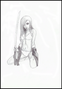 Chick With Sword by Serenity4art