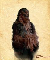 Chewbacca Color Study by dsilvabarred