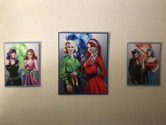 Heroines and Villains On a Wall by knottysilkscarf