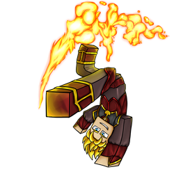 Minecraft Avatar - Fire Bender Solace by GoldSolace