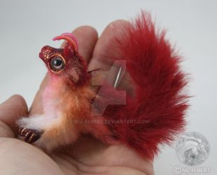 OOAK Fairy Elemental Hatchling Mini Poseable Doll by M-J-Albert