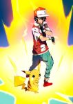 Trainer Red and Pikachu Z Move by moxie2D