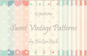 Sweet Vintage Patterns by XiuLanStock