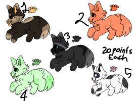 20 points each (dog adoptables open) by Starry-Nightss