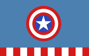 Marvels Captain America Minimalist Wallpaper by NightLightArt