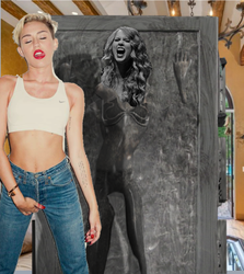 talor swift in jeans beutifuly frozen in carbonite by Cloudartistmaster