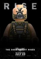 LEGO Bane from The Dark Knight Rises Poster by Boygos