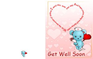 Get well soon card by Goldphishy