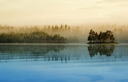 Misty Lake by RobinHedberg