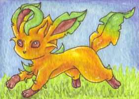 ACEO Leafeon by Zun0
