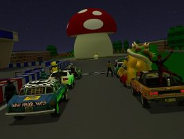 A Mario style Race Pic 2 by JSMRACECAR03