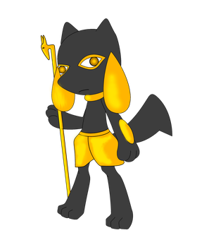 Anubis Riolu by Lord-Siver