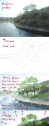 Tutorial: anime like scenery from photo by starca