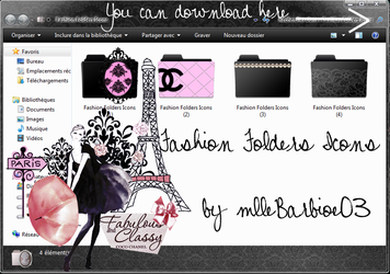 Fashion Folders icons for girls. by mllebarbie03