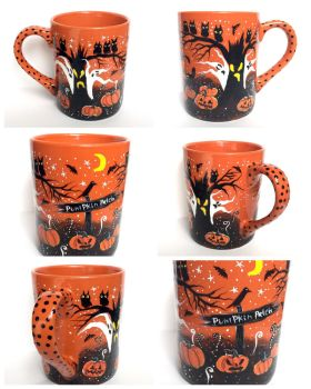 Hand painted Halloween Mug - at my shop now! by InkyDreamz