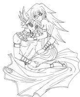[Commission] Yusei and Natsumi by Cleopatrawolf