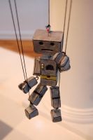 Mr Robo Puppet at show by DESIGNOOB