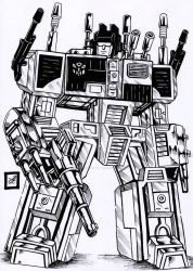transformers g1 Metroplex Inked by darkartistdomain