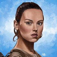 Daily Sketches Rey by fedde