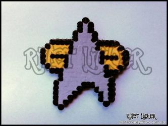 8 Bit Starfleet Combadge fridge magnet DS9 VOY era by angeleyezxtc