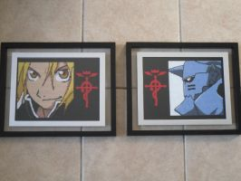 Elric Brother Cross Stitches by Karma-Pudding