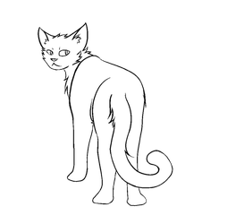 F2U Thunderclan Warrior Cat Lineart by popfiish