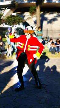 Dr Eggman cosplay in a Picnic 2 by ViluVector