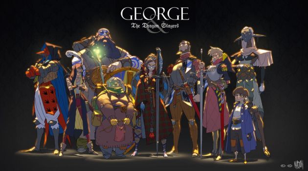 George and The Dragon Slayers by matjosh