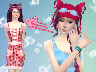 CatGirl Lena - TS4 Sims Model by ng9