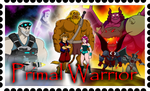 Primal Warrior Stamp by RetroUniverseArt