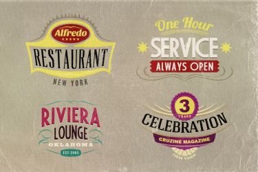4 FREE Retro Sign Templates by hugoo13