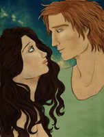 Your face is like a Melody - Finnick and Annie - by Morrigan22