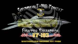VF-103 F-14B TOMCAT JOLLY ROGERS No1 by SANTAMOURIS1978