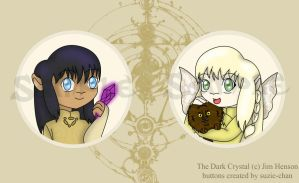 The Dark Crystal buttons by suzie-chan