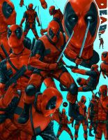 Deadpool Sketchsheet Colored by ruddiger