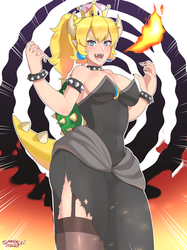 Bowsette!! by SarukaiWolf