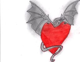 Dragon with heart by Pris-Shadow