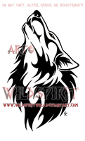 Ambereye Wolf Tribal Design Commission by WildSpiritWolf