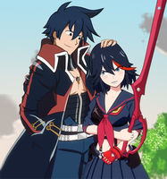 Simon X Ryuko by ViralDrone