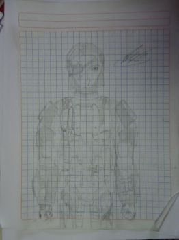 First Character drawing: Col. Samuel Hawk by ASG266