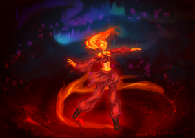 Gift: Dancing with the embers by KimsSpace
