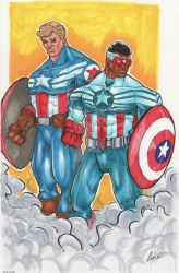 The Captains of America by IanDWalker