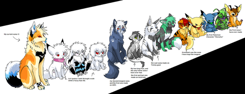 Sona line up by Ash-Dragon-wolf