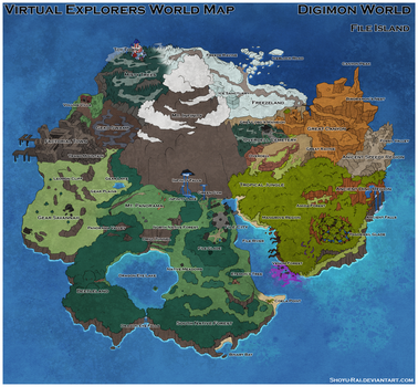 Virtual Explorers - File Island world map by Shoyu-Rai