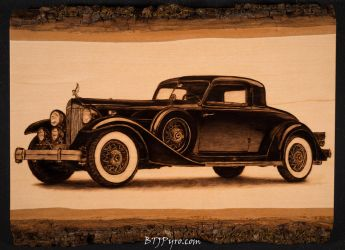 Pyrography of a Rolls-Royce by brandojones