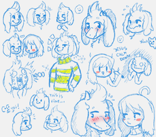 Asriel sketches by AdaHams